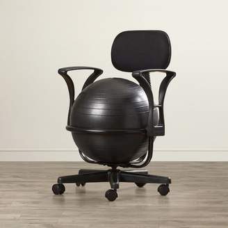 Symple Stuff Exercise Ball Chair Arms: With Arms