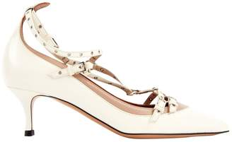 Valentino White Leather Heels