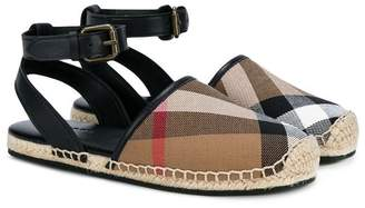 Burberry side buckle espadrilles