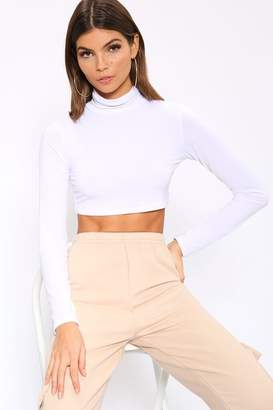ab31e25e9fa White Long Sleeve Crop Top - ShopStyle UK