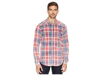 Lucky Brand Red Plaid Western Shirt