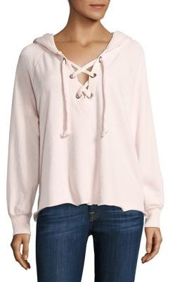 Wildfox Hutton Lace Up Hoodie $123 thestylecure.com