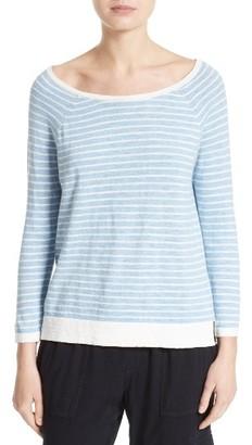 Women's Soft Joie Suzu Stripe Cotton Sweater $178 thestylecure.com