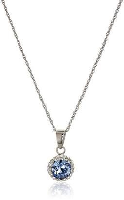Swarovski Sterling Silver Crystal Halo Pendant Necklace