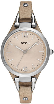 Women's Fossil 'Georgia' Leather Strap Watch, 32Mm $85 thestylecure.com