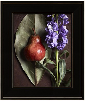 Metaverse Art Leaf With Pear 2 Framed Wall Art