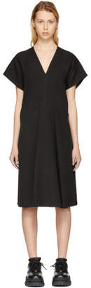 Acne Studios Black Jessa Raw Linen Dress
