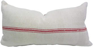 One Kings Lane Vintage French Linen Body Pillow - AntiqueLifestyle