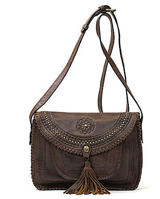 Patricia Nash Distressed Vintage Collection Beaumont Tasseled Cross-Body Bag $189 thestylecure.com