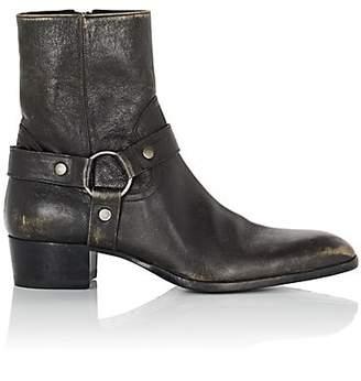 d06efd68beb Saint Laurent Men s Wyatt Leather Harness Boots - Black