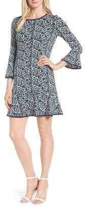 MICHAEL Michael Kors Woodblock Vines Flounce Dress
