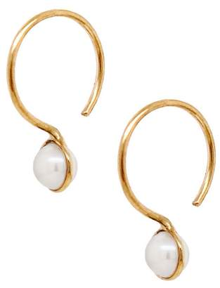 Cyril Studio Small Moon Drop Earrings - Yellow Gold