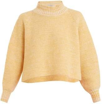 Vika Gazinskaya Cropped Wool Sweater - Womens - Yellow