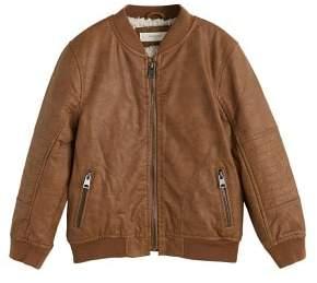 MANGO Faux shearling bomber jacket