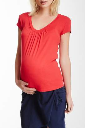 Michael Stars Cap Sleeve Supima Cotton Tee (Maternity)
