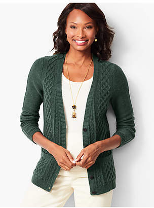Talbots Girlfriend Cable-Knit Cardigan