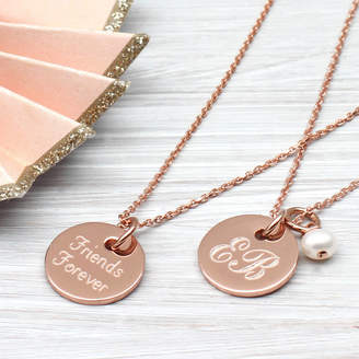 Hurleyburley Personalised Gold Disc Charm Necklace