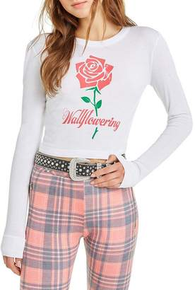 Wildfox Couture Wallflowering Mia Long Sleeve | Clean White