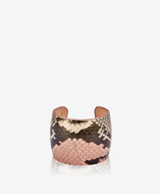 GiGi New York Amelia Leather Cuff, Rose Wash Embossed Python