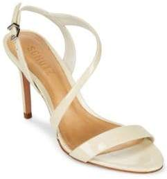 Schutz Aleria Leather Slingback Sandals