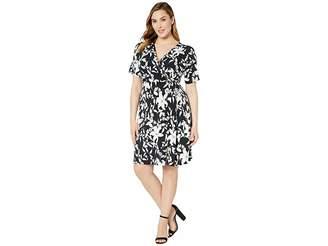 7df9a2dfc72 Karen Kane Plus Plus Size Faux Wrap Dress
