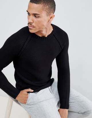 ONLY & SONS long line knitted sweater