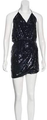 Haute Hippie Sequin Halter Dress