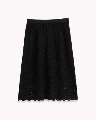 Theory (セオリー) - 【Theory】Embroidered Lace Gather Skirt