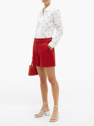 RED Valentino Tailored Crepe Shorts - Womens - Red