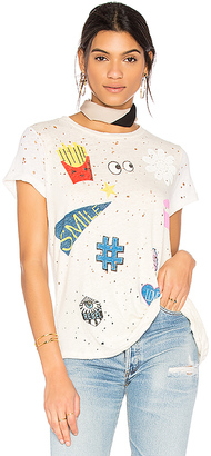 Lauren Moshi Bess Love & Smile Tee in White $96 thestylecure.com