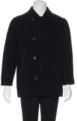 Burberry Nova Check-Lined Wool Jacket