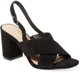 Pure Navy Slingback Suede High Heel Sandal