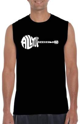 Pop Culture Big Men's Sleeveless T-Shirt - All You Need Is Love