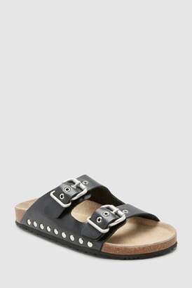 Next Girls Animal Buckle Corkbed Sandals (Older)