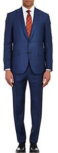 Barneys New York Men's Lotus Wool Two-Button Suit - Navy