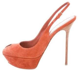 Sergio Rossi Suede Slingback Pumps w/ Tags
