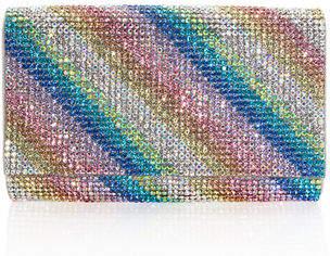 Judith Leiber Couture Fizzy Rainbow Crystal Full-Beaded Clutch Bag
