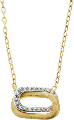 Marco Bicego 18k Two-Tone Diamond Link Pendant Necklace