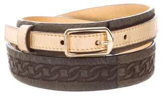 Chanel Ponyhair Waist Belt