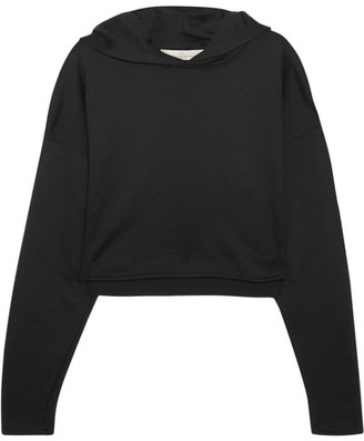 Golden Goose Deluxe Brand - Cropped Jersey Hooded Top - Black $355 thestylecure.com