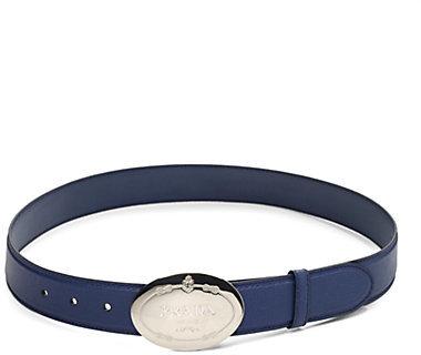 Prada Saffiano Engraved Belt