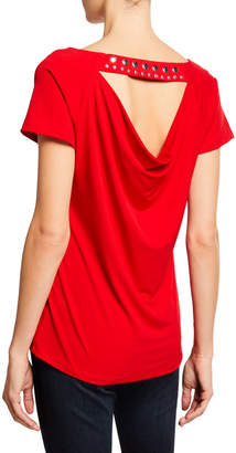 Carmen Marc Valvo Carmen By Studed Cowl-Back Top