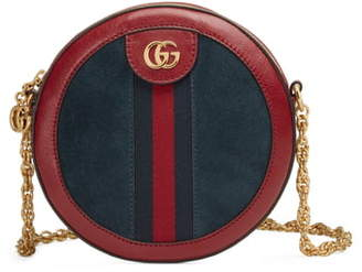Gucci Ophidia Small Suede & Leather Circle Crossbody Bag