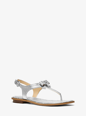 Michael Kors Alice Metallic Leather Sandal