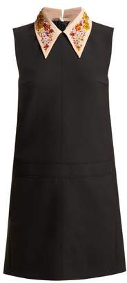 No.21 No. 21 - Embroidered Collar Shift Dress - Womens - Black
