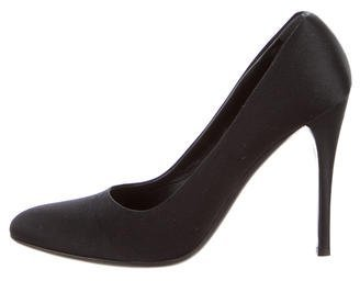 prada Prada Satin Round-Toe Pumps
