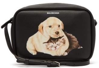 Balenciaga - Everyday Camera Xs Animal Print Cross Body Bag - Womens - Black Multi