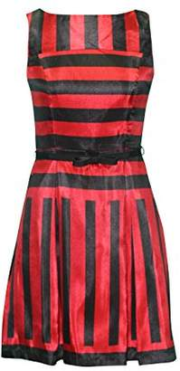 Julian Taylor Women's Sleeveles Stripe Fit and Flare Party Dress