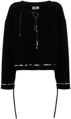 MM6 MAISON MARGIELA sequin trimmed fleece jumper