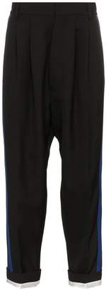 Haider Ackermann stripe tapered virgin wool trousers